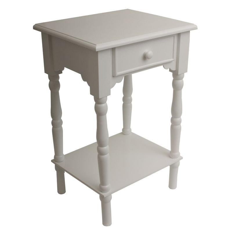 Decor Therapy Simplify End Table, White