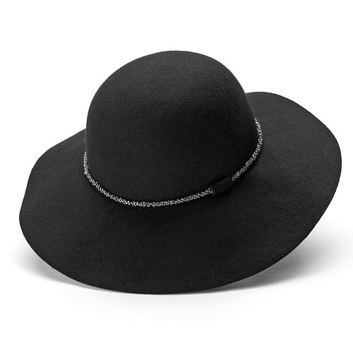 Apt. 9® Metallic Band Women's Wool Floppy Hat