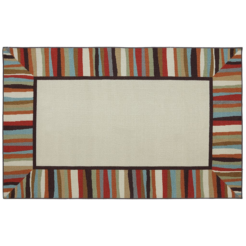Mohawk® Home Patio Border Striped Indoor Outdoor Rug