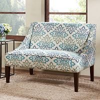 Madison Park Calla Scroll Floral Loveseat Settee