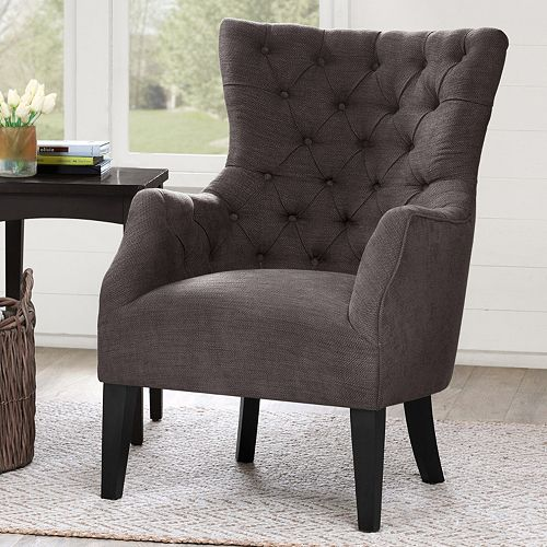 Madison Park Isa Button Tufted Wing Back Chair