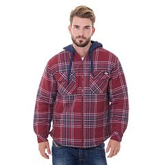 Men's Dickies Plaid Flannel Hooded Shirt