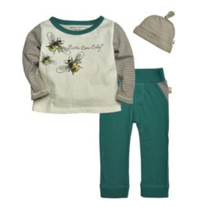 Baby Boy Burt's Bees Baby Organic Bee Tee & Pants Set