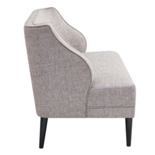 Madison Park Armelle Tufted Round Arm Seat Settee