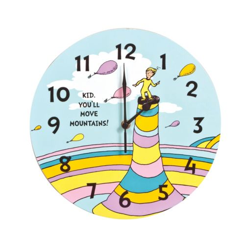 Dr. Seuss Kid You'll Move Mountains Wall Clock by Trend Lab