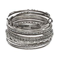 Mudd® Beaded Bangle Bracelet Set