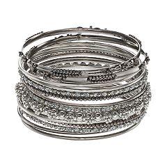 Mudd® Beaded Bangle Bracelet Set