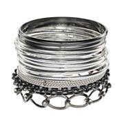 Mudd® Mixed Bangle Bracelet Set