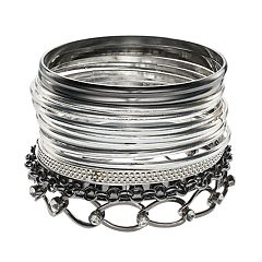 Mudd® Mixed Bangle Bracelet Set