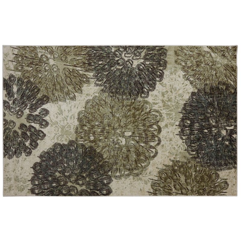 Viscose Beige Area Rug