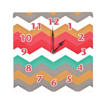 Waverly Baby Pom Pom Chevron Wall Clock by Trend Lab