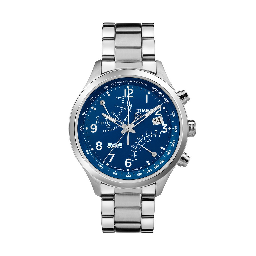 Timex Men's Intelligent Quartz Fly-Back Stainless Steel Chronograph Watch - TW2P60600DH