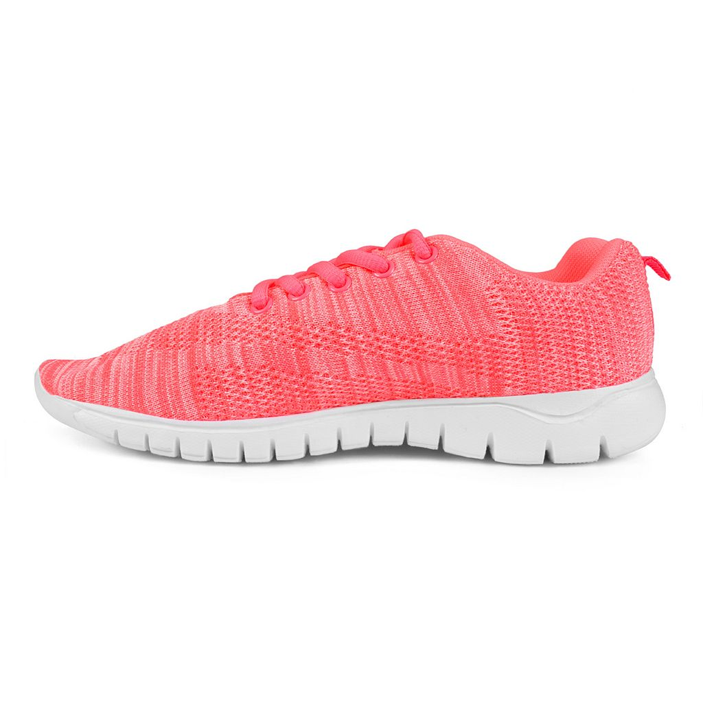 Journee Collection Jogger Women's Marled Print Sneakers