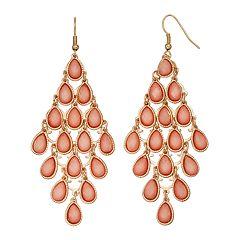 Mudd® Pink Glittery Teardrop Nickel Free Kite Earrings