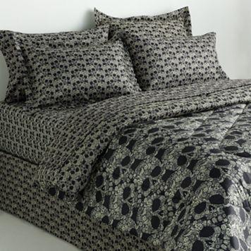Veratex Floral Skull Reversible Comforter Set