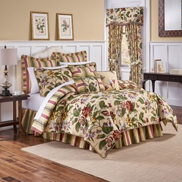 Waverly Laurel Springs 4-pc. Reversible Comforter Set
