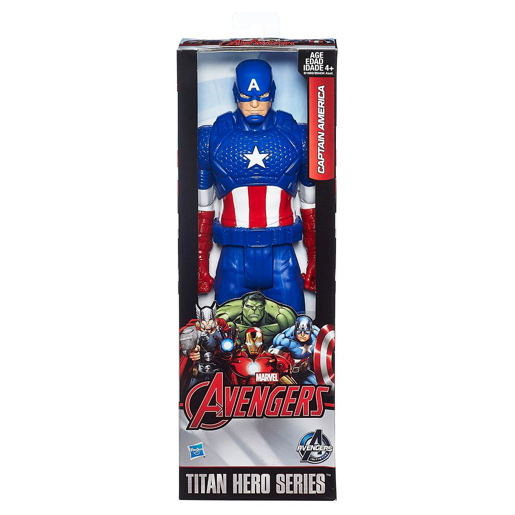 Marvel Avengers Titan Hero Series 12-in. Captain America Figure by Hasbro