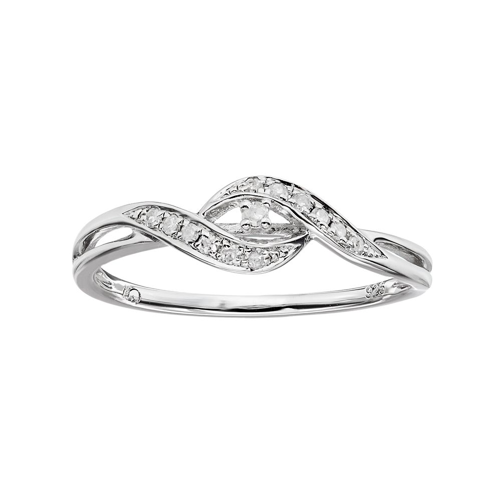 17fdf97bc I Promise You 1/10 Carat T.W. Diamond Sterling Silver Twist Promise ...