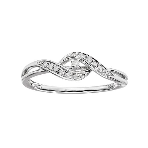 Diamond Rings For Sale Kohls: I Promise You 1/10 Carat T.W. Diamond Sterling Silver