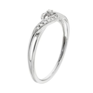 I Promise You 1/10 Carat T.W. Diamond Sterling Silver Twist Promise Ring