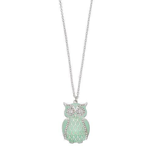 Mudd® Long Green Owl Pendant Necklace