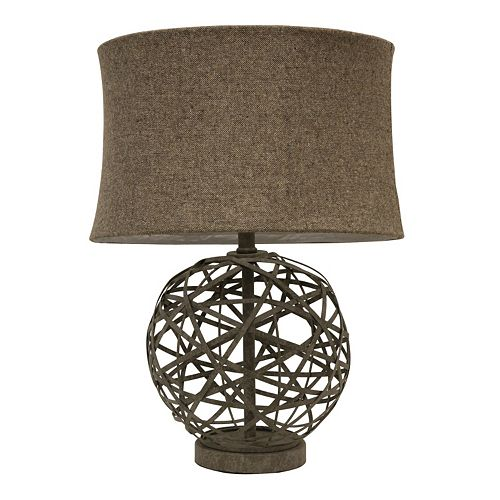 Decor Therapy Strapped Steel Ball Lamp