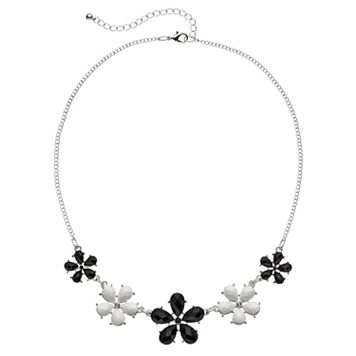 Mudd® Black & White Flower Necklace
