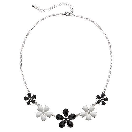 Mudd® Black & White Flower Necklace