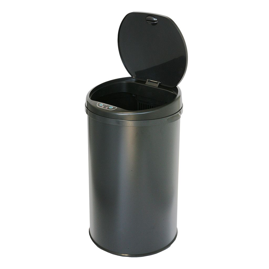 iTouchless 8-Gallon Round Sensor Trash Can