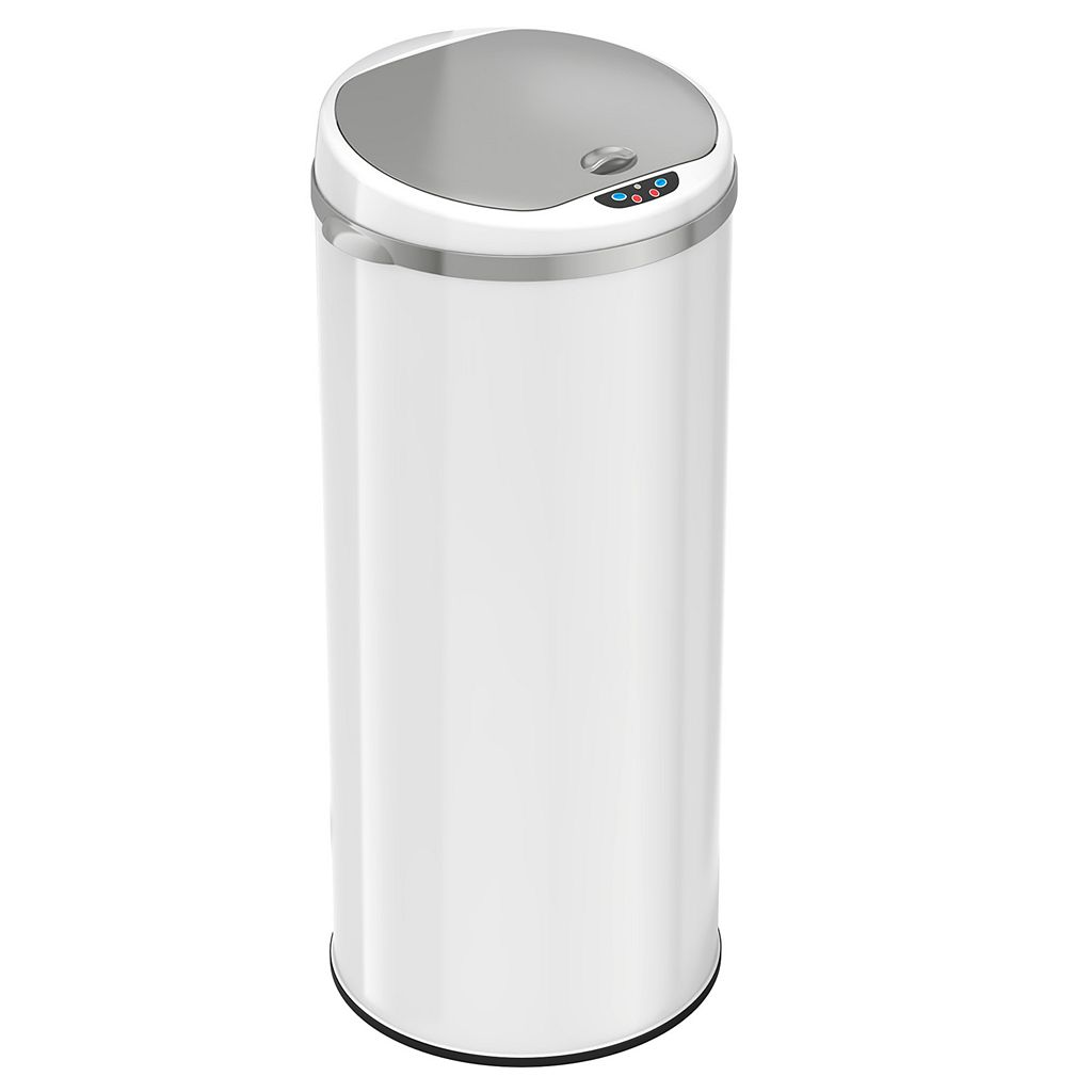 iTouchless 13-Gallon Round Sensor Trash Can