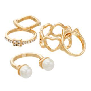 Mudd® Heart & Cat Ears Ring Set