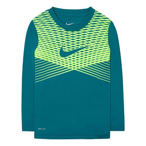 Boys 4-7 Nike Striped Dri-FIT Tee