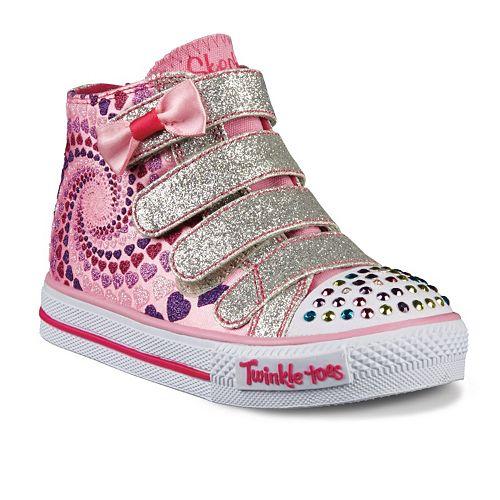 Skechers Twinkle Toes Shuffles Lil Skippers Light Up Girls