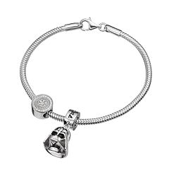 Star Wars Sterling Silver Darth Vader Charm Bracelet Set