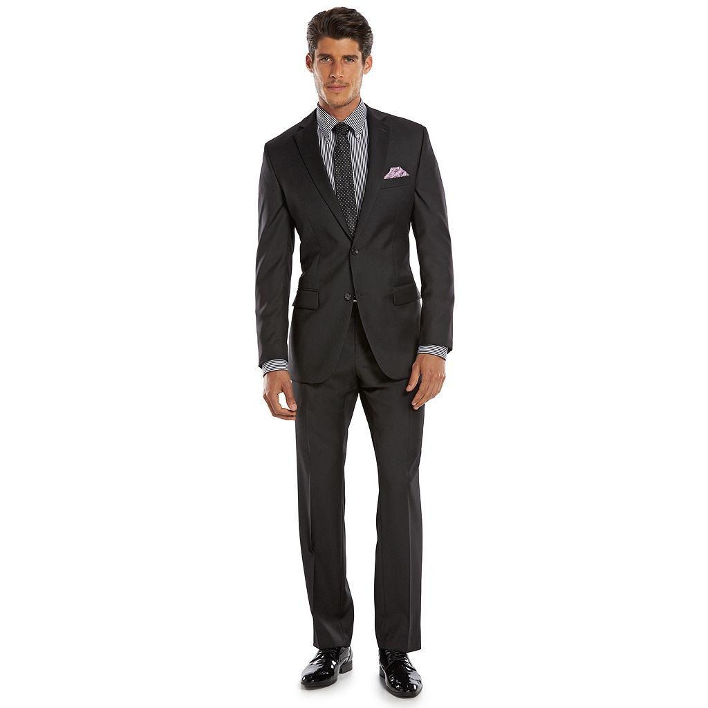 Men's Marc Anthony Slim-Fit Black Wool Suit Jacket