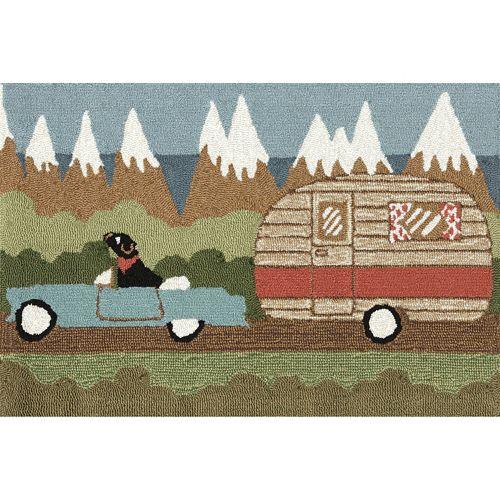 Liora Manne Frontporch Camping Dog Indoor Outdoor Rug