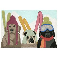 Liora Manne Frontporch Ski Patrol Indoor Outdoor Rug