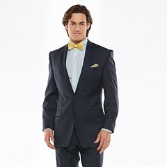 Big & Tall Chaps Classic-Fit Navy Wool-Blend Comfort Stretch Suit Jacket