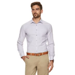 Men's Marc Anthony Extra-Slim Textured Patterned Button-Down Shirt