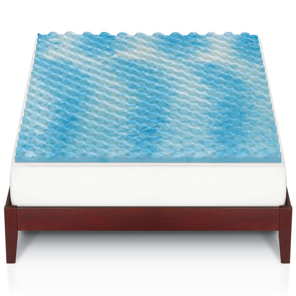 big one® gel memory foam mattress topper