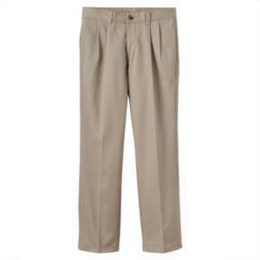 Boys 8-20 & Husky Chaps School Uniform Pleated Twill Pants