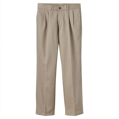 Boys 8-20 & Husky Chaps School Uniform Pleated Twill Pants