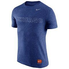 Men's Nike Chicago Cubs Wordmark Tri-Blend Tee