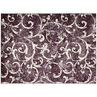 Kathy Ireland Santa Barbara Scroll Shag Rug