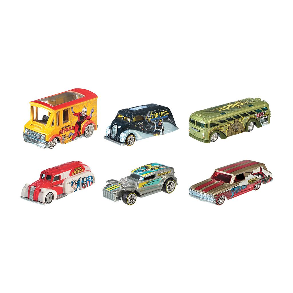 Marvel 6-pk. Pop Culture Cars by Hot Wheels