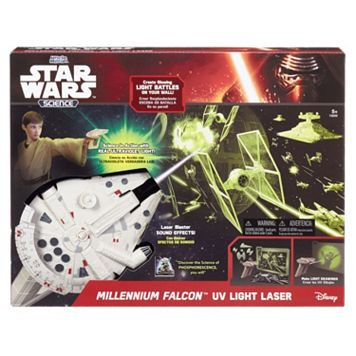 Star Wars Science Millennium Falcon UV Light Laser by Uncle Milton