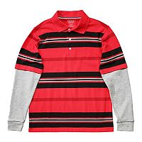 French Toast Striped Mock-Layer Tee - Boys 4-7