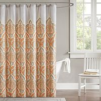 Madison Park Leah Fabric Shower Curtain