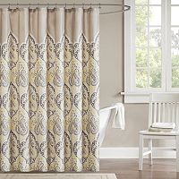 Madison Park Noelle Fabric Shower Curtain