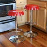 AmeriHome 2 pc Retro Soda Cap Bar Stool Set